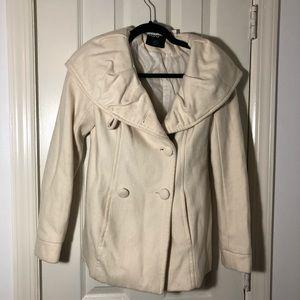 BDG   Cream Color Wool Coat, Size XS